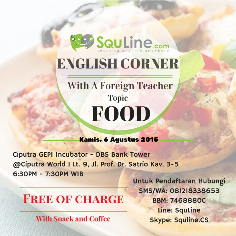 English Corner With A Foreign Teacher