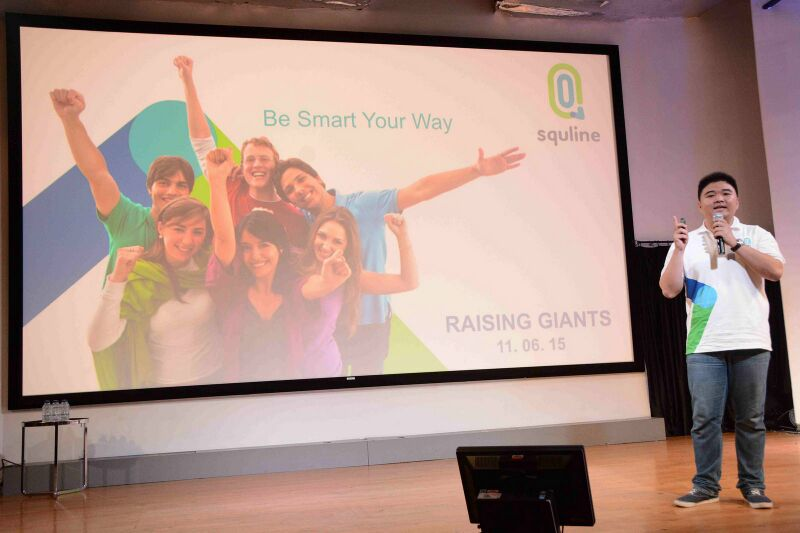 SquLine's CEO : Tomy Yunus Tjen was pitching in Raising Giants