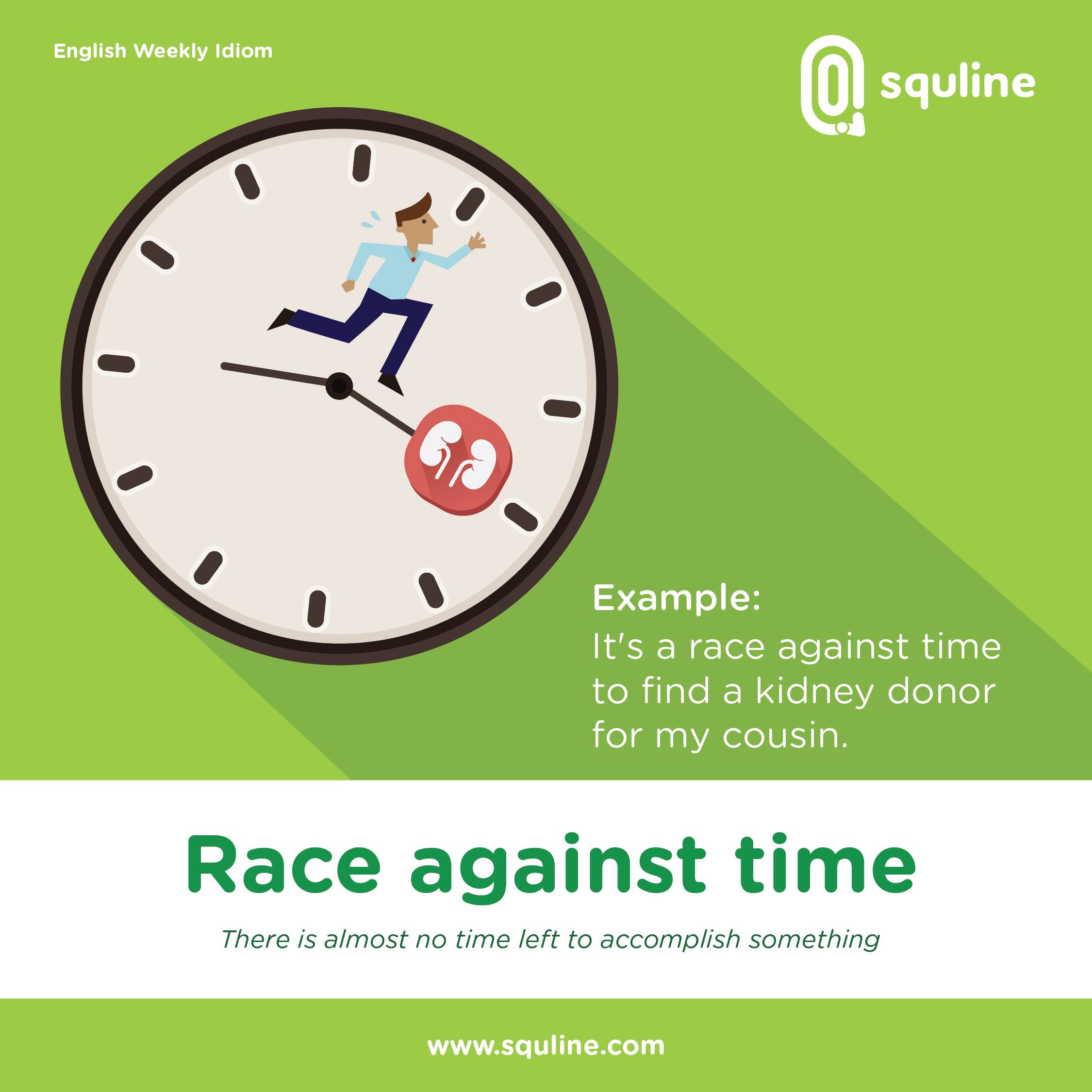 English Idiom Race Against Time