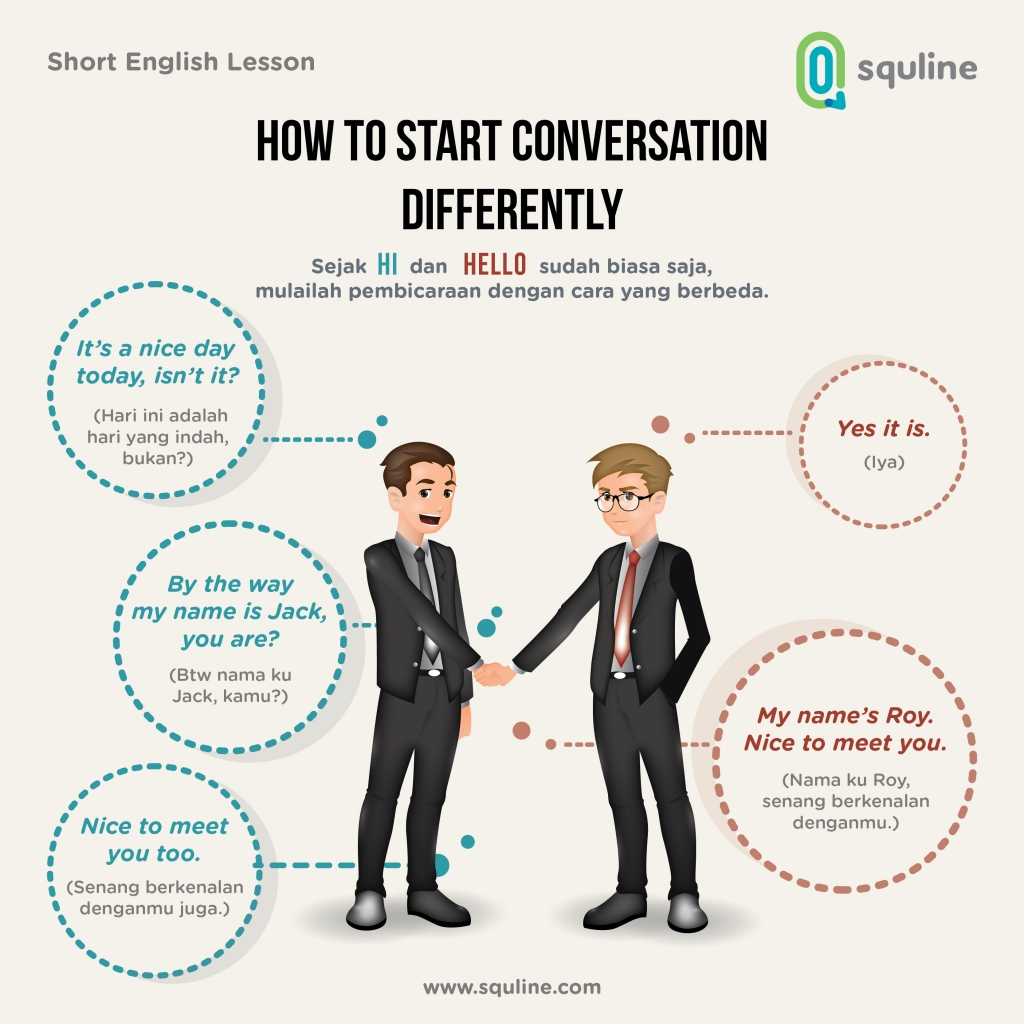 English Short Lesson : How to Start Conversation Differently