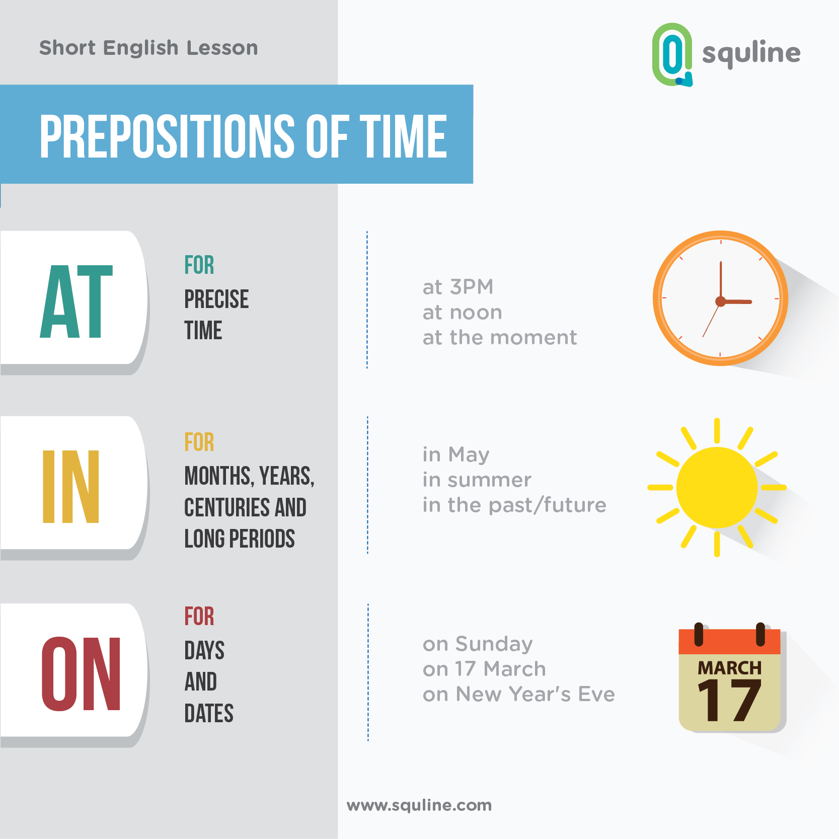 English short lesson prepositions of time squline english short lesson prepositions of time ccuart Image collections