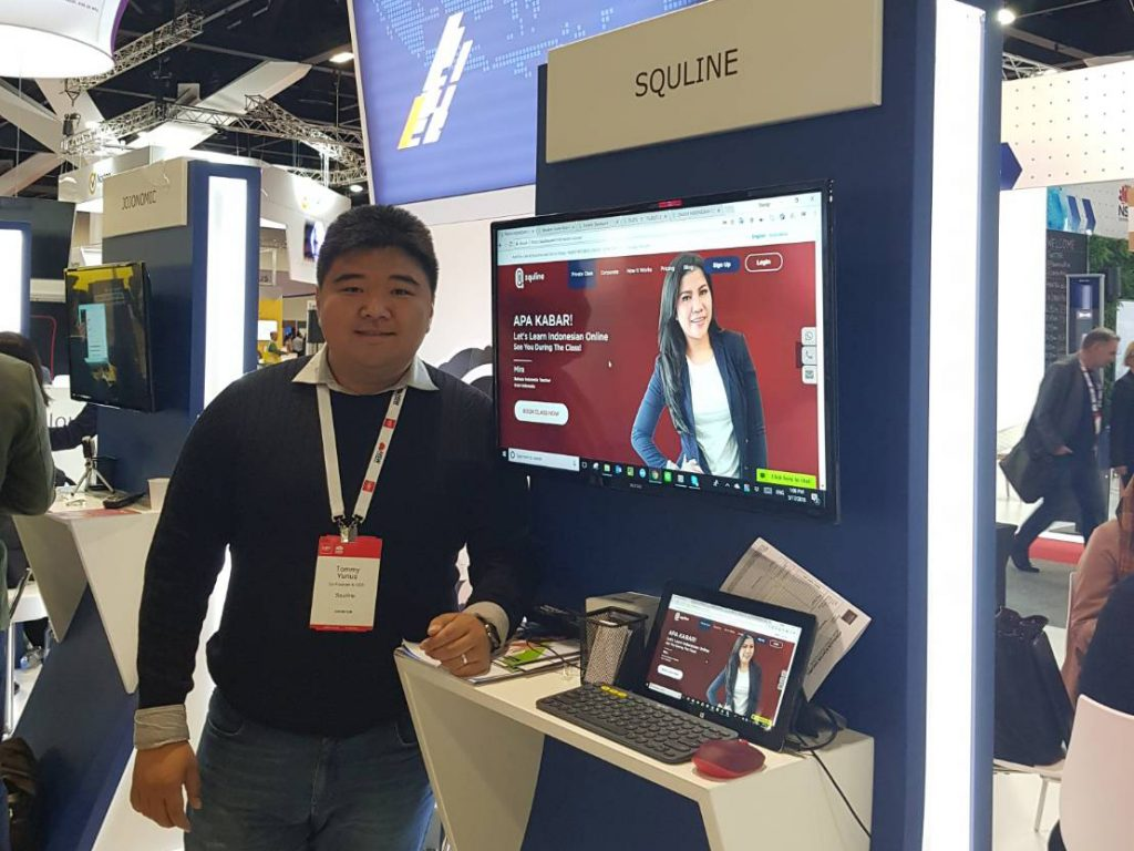 Mr Tomy Yunus as Squline's CEO at CeBIT 2018
