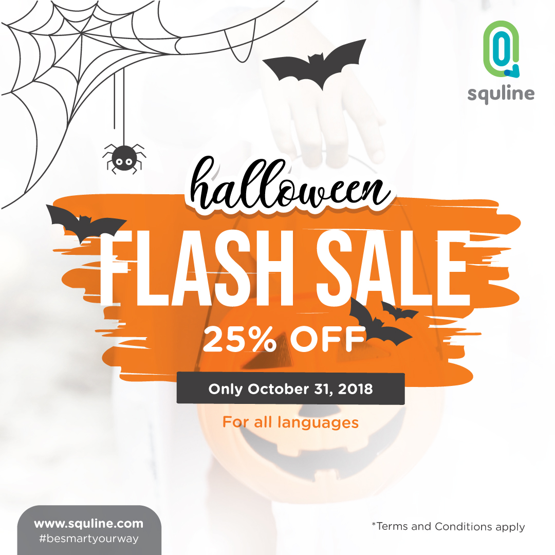 Squline Halloween Promo: Speak or Treat