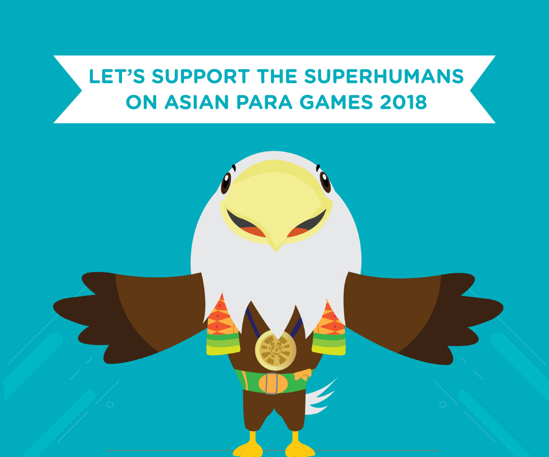 Let's Support the Superhumans on Asian Para Games 2018