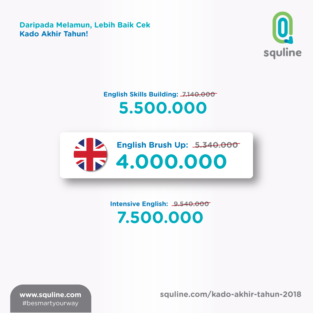 Squline English Packages - Kado Akhir tahun 2018